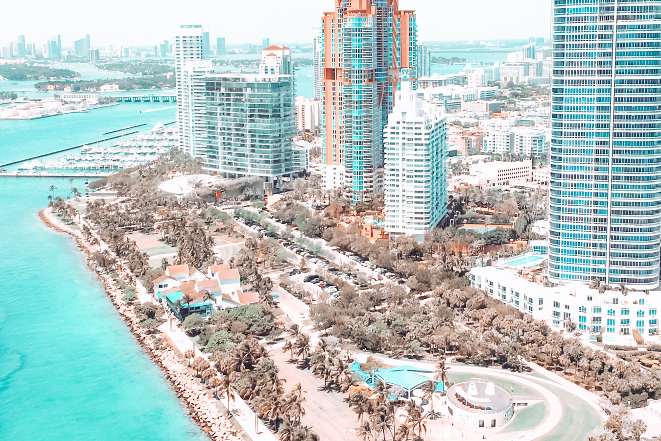 View of waterfront in Miami