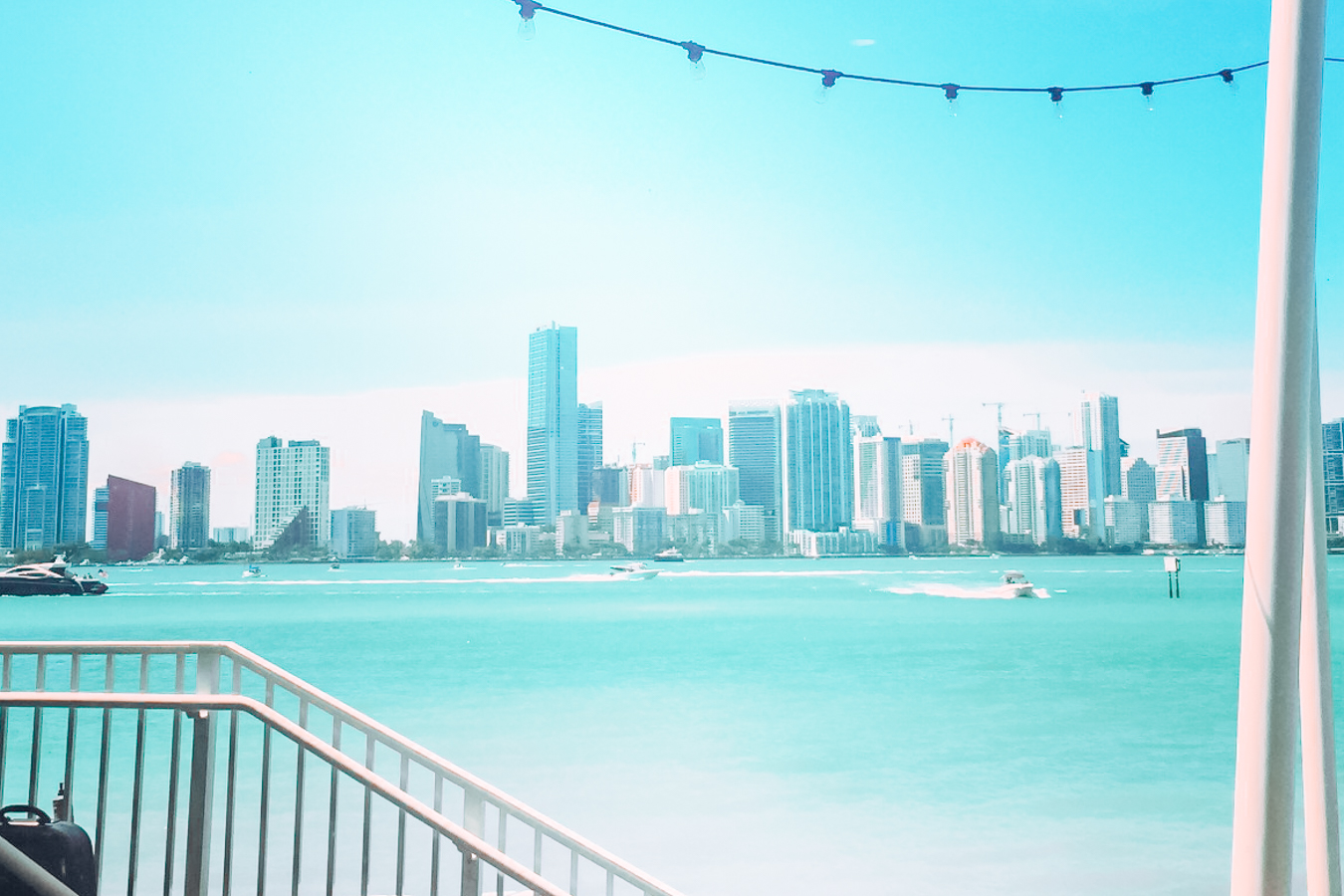 Skyline of Miami and the water