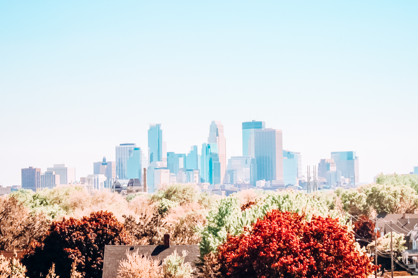 The skyline of Minneapolis