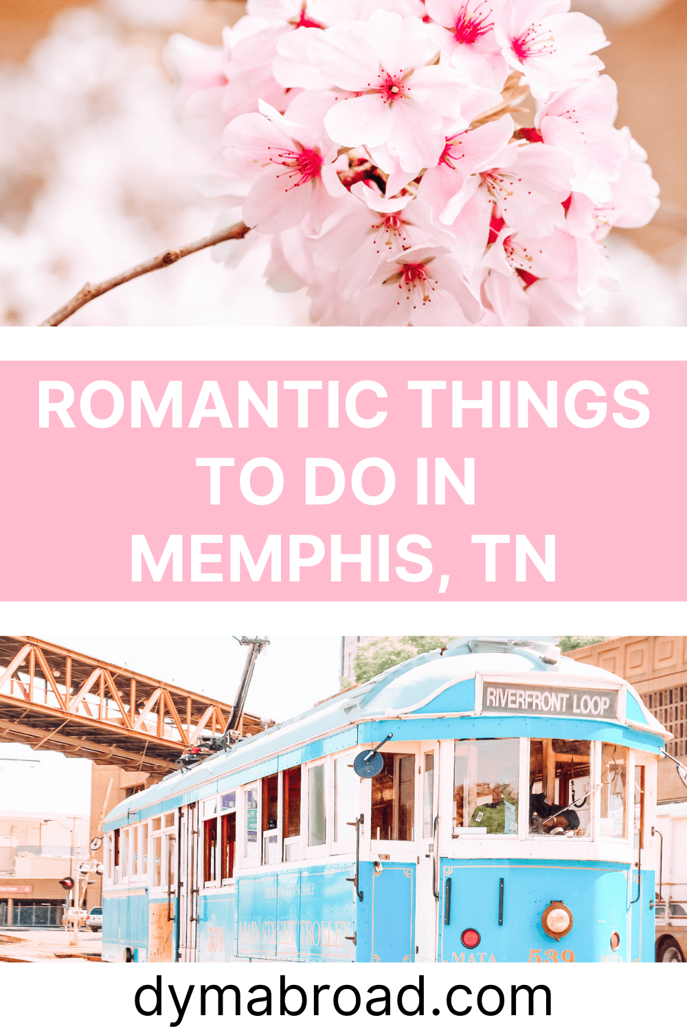 Romantic things to do in Memphis second Pinterest image