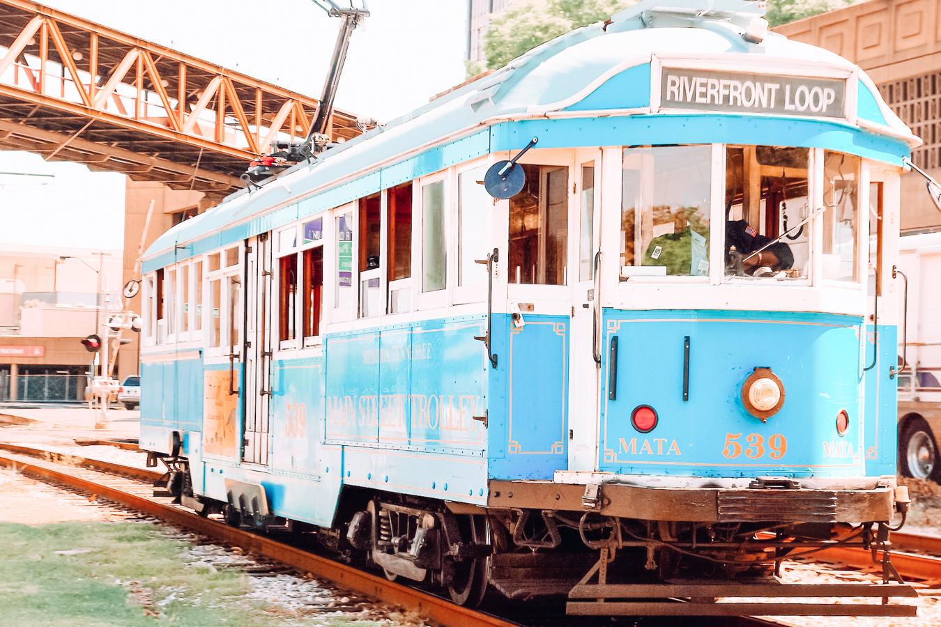 Blue trolley