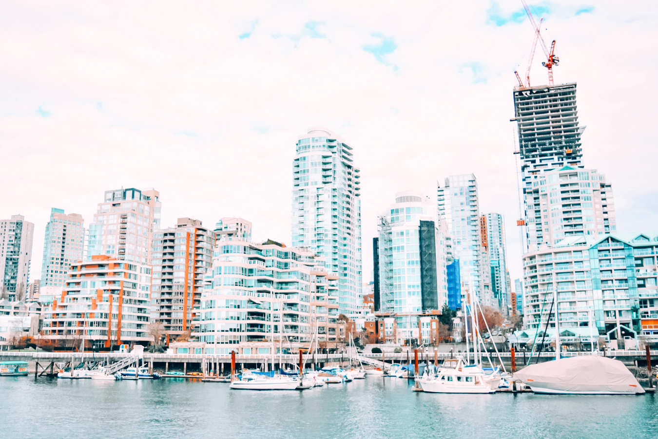 Buildings and boats in Vancouver
