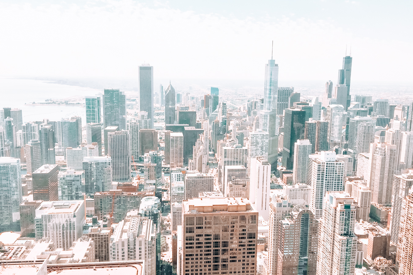 View of Chicago from above