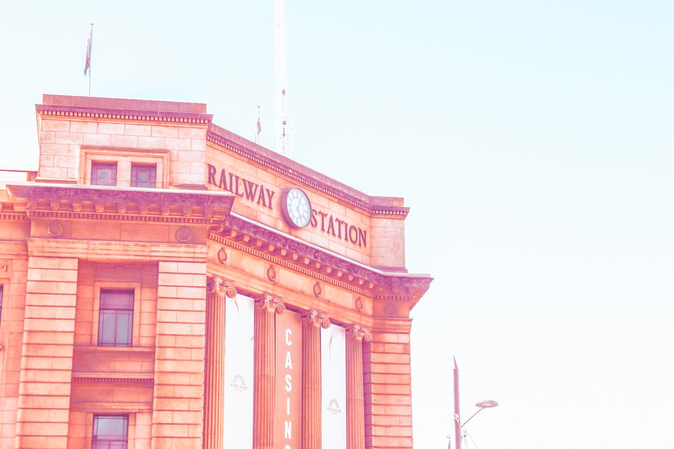 Railway station of Adelaide
