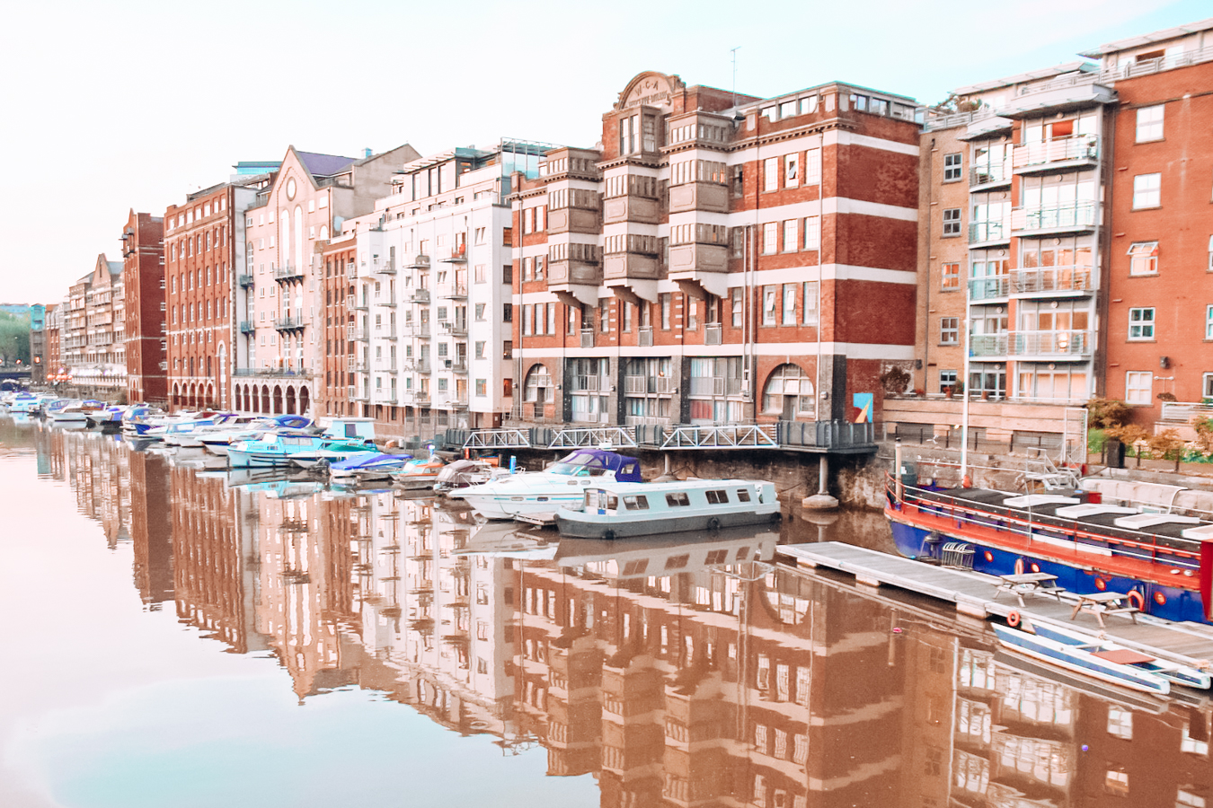 Water, boats, and buildings in Bristol