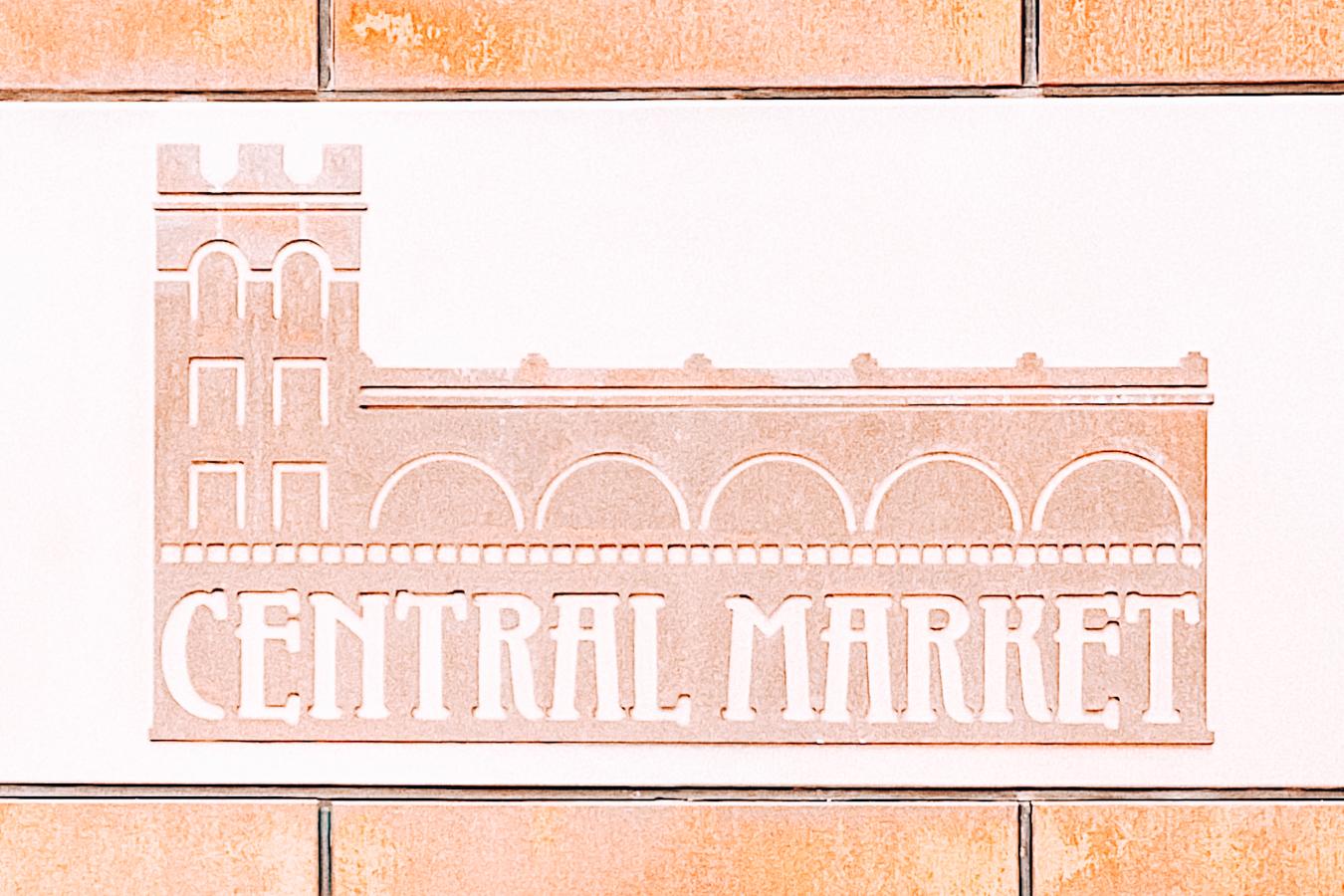 Sign of central market
