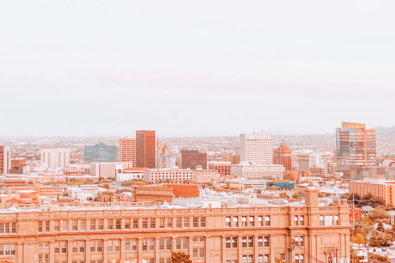 View of buildings in El Paso