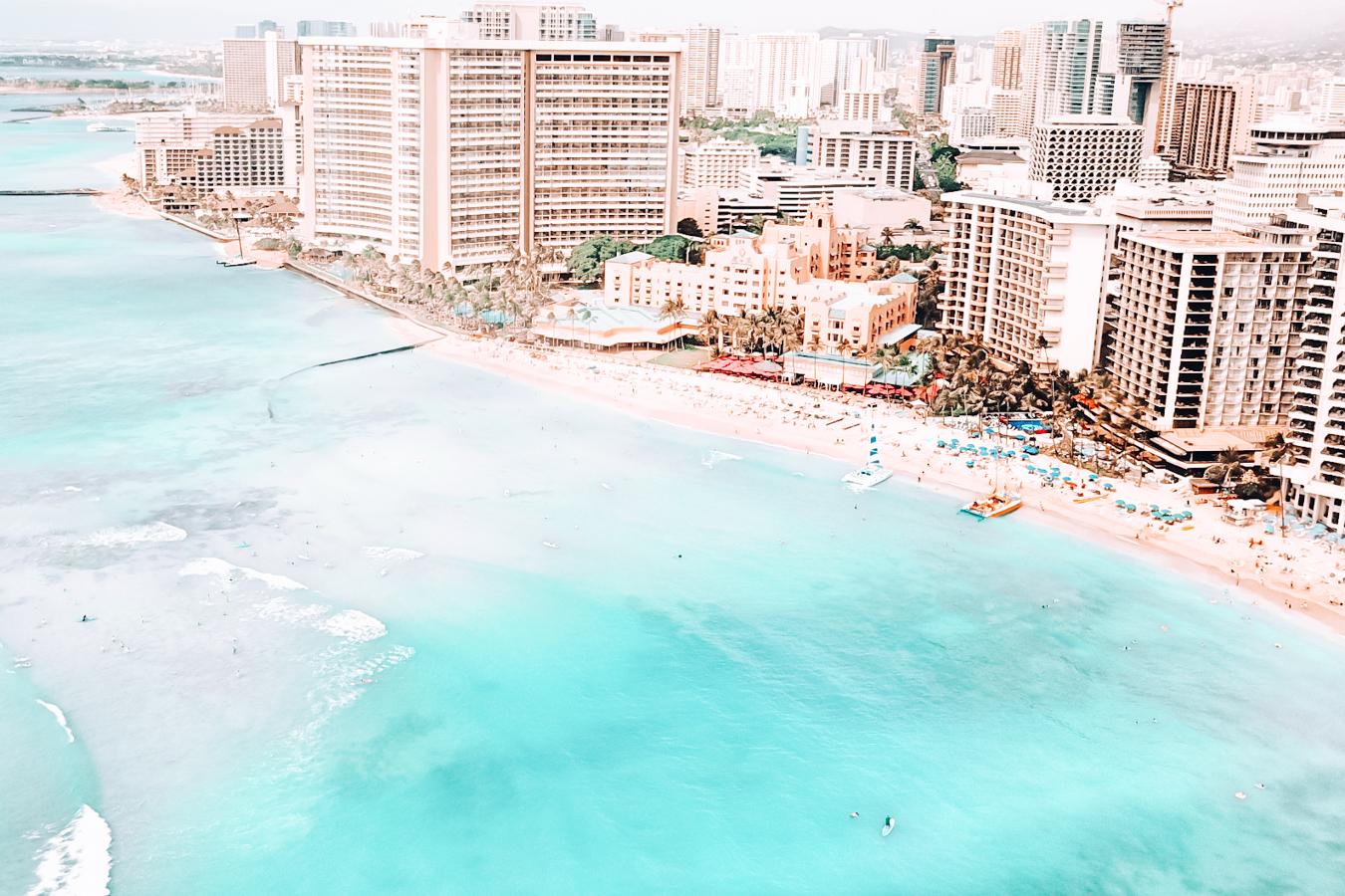 View of water and buildings in Honolulu