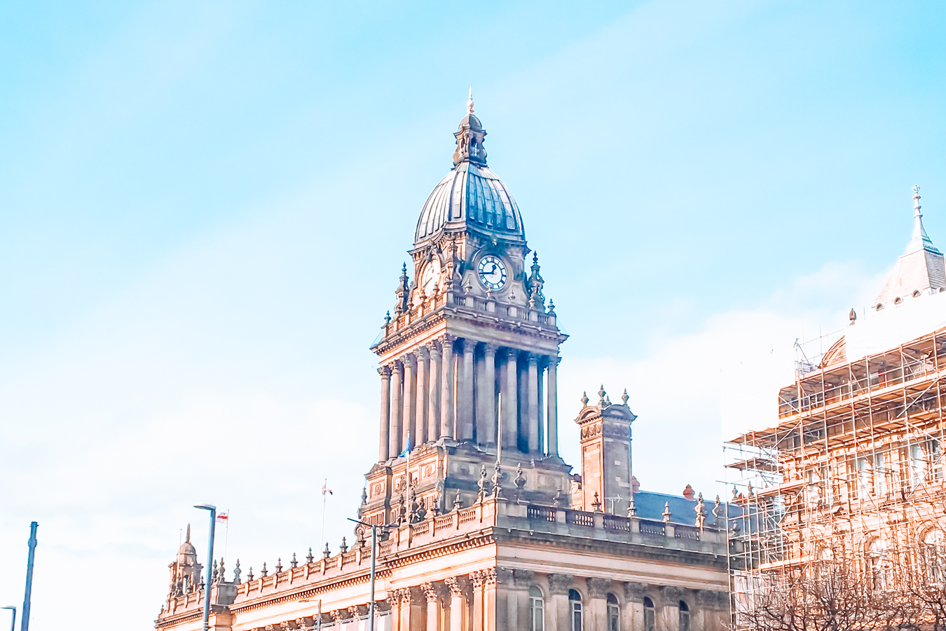 The Town Hall and a blue sky