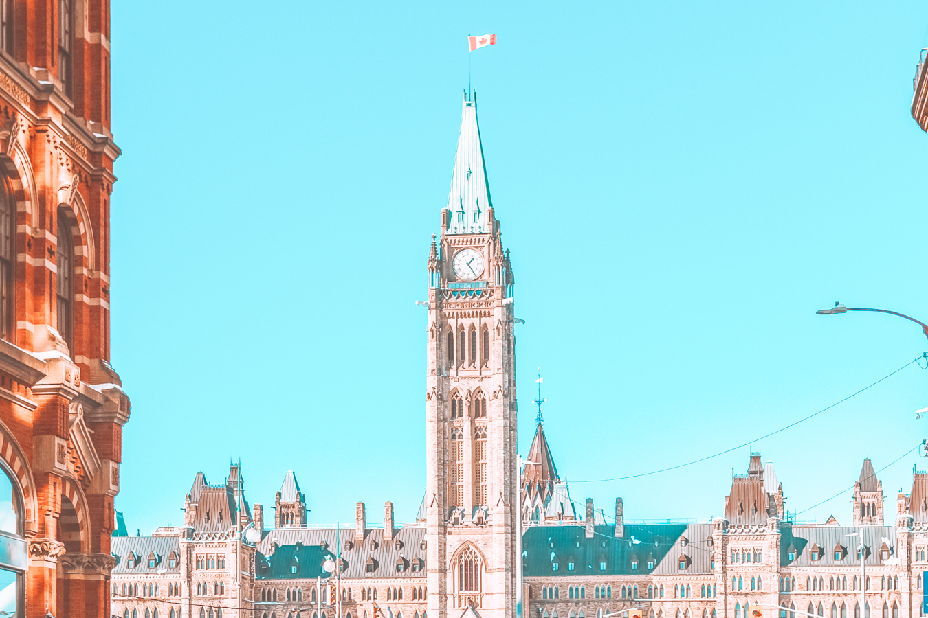 A view of the Parliament of Canada