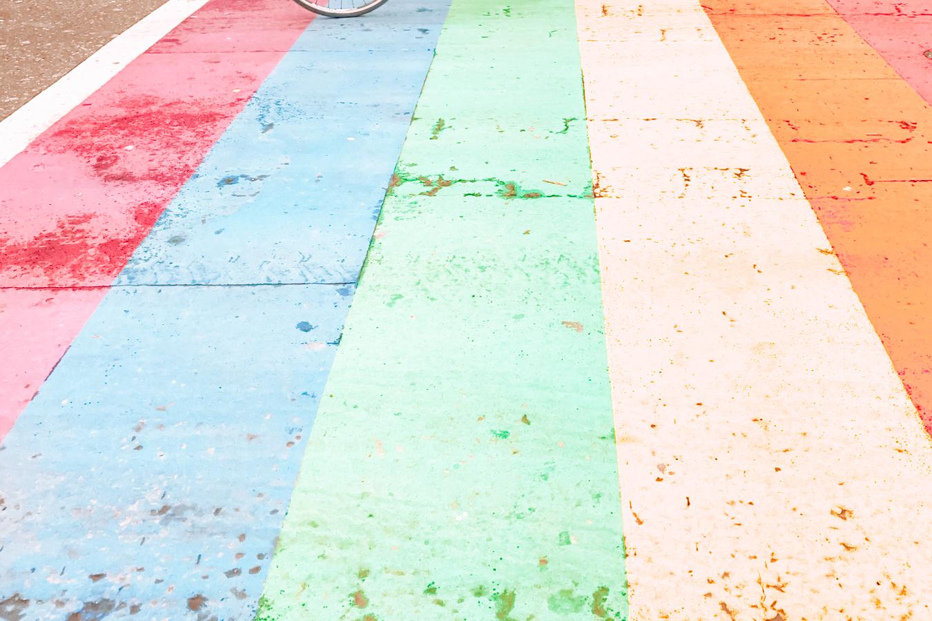 Rainbow crosswalk in Seattle