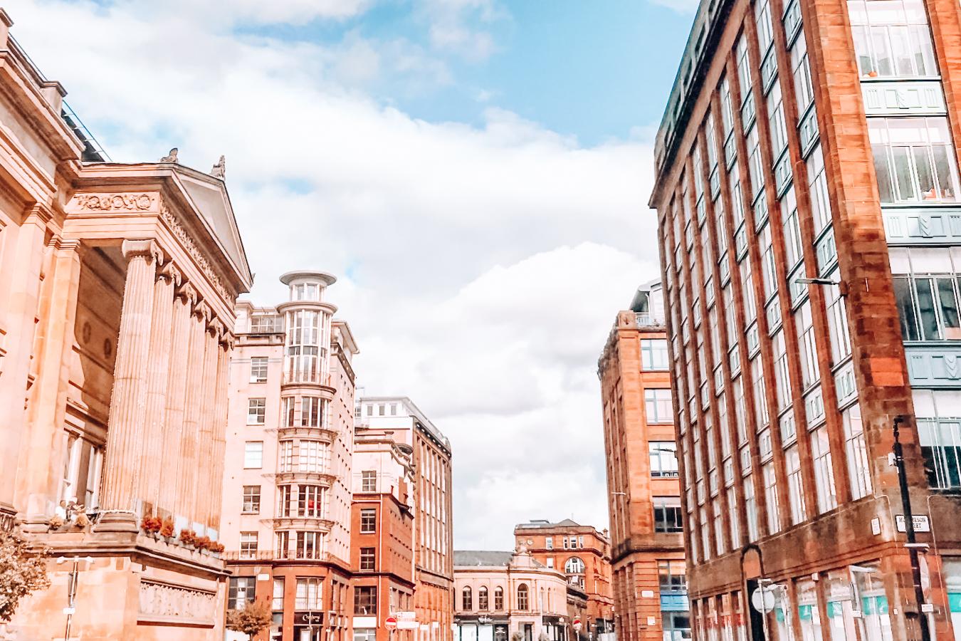 Buildings in a street in Glasgow