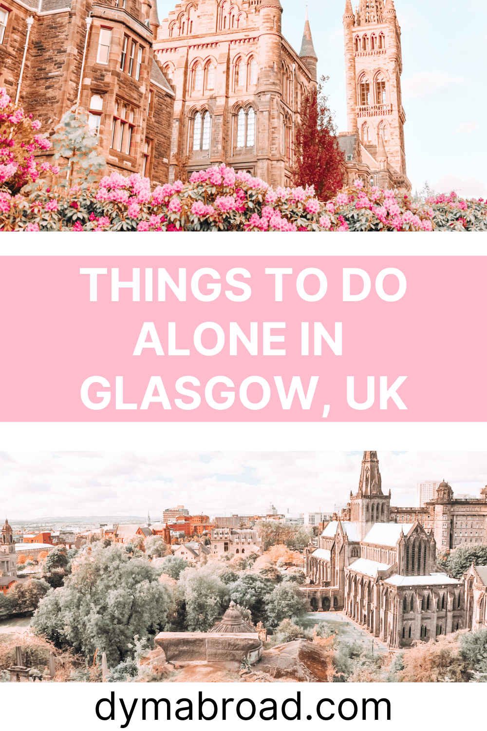 Things to do alone in Glasgow second Pinterest image