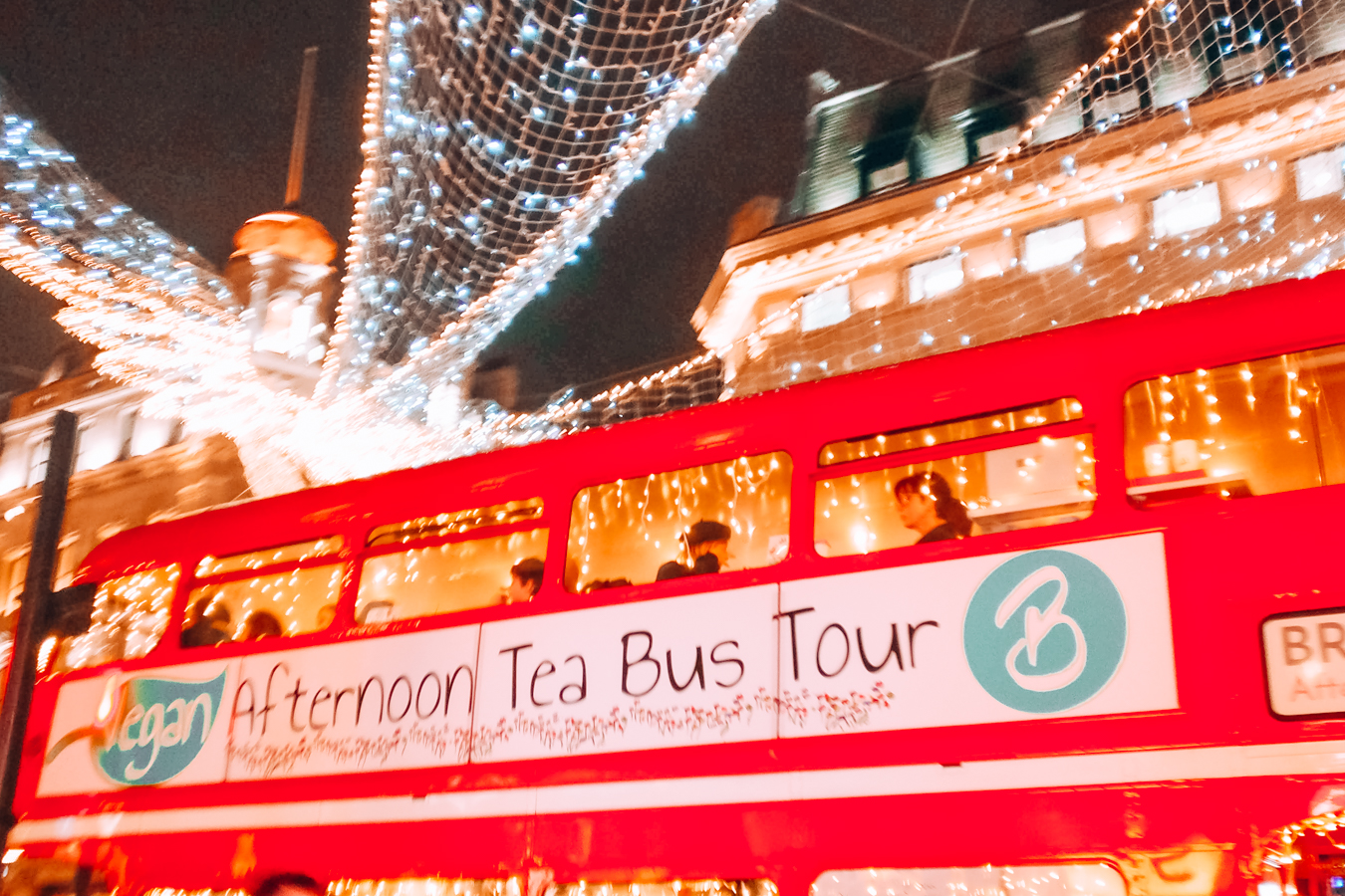 Red afternoon tea bus