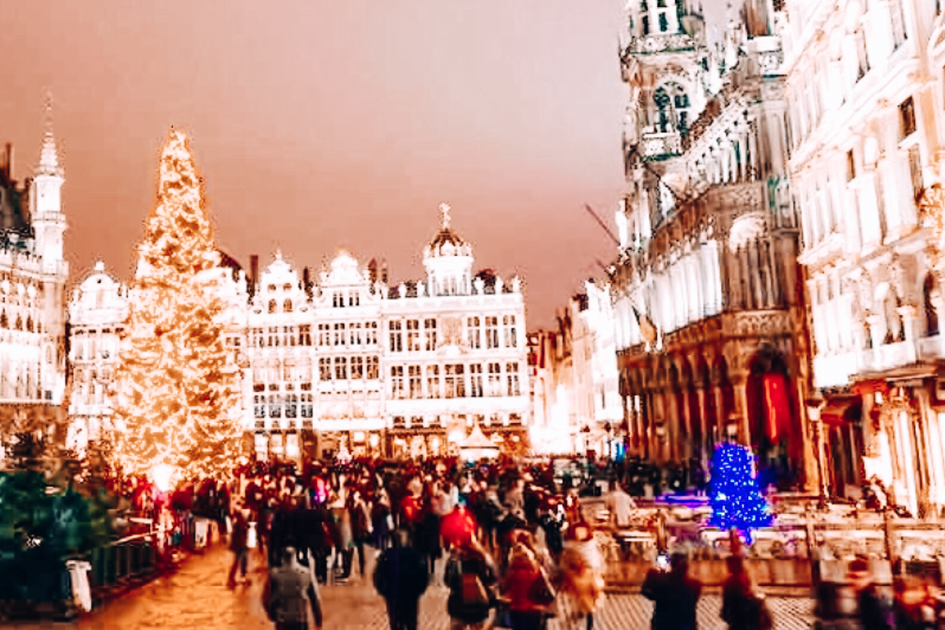 Brussels in the evening