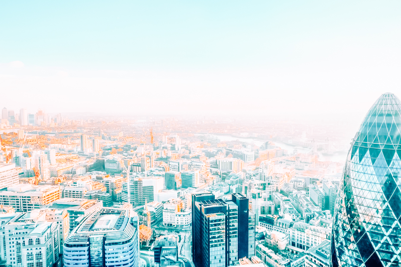 View of London from above