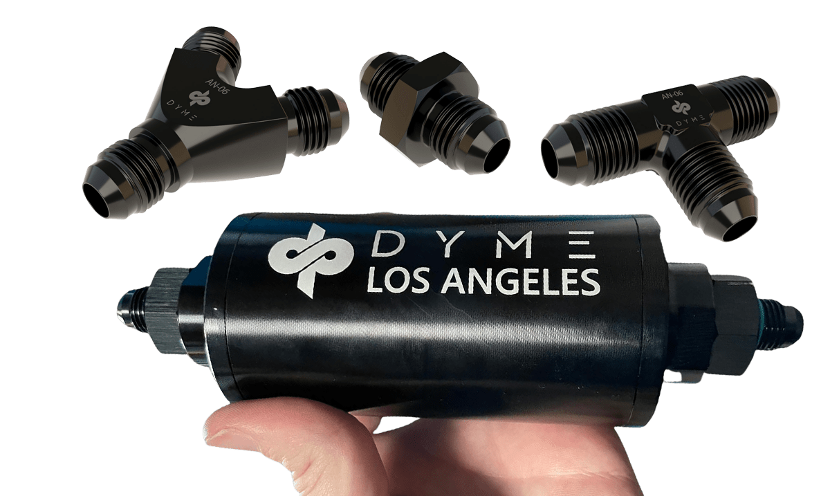 Dyme PSI hose filter y-fitting tee-fitting and adapter