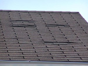 Damaged Shingle Roofing