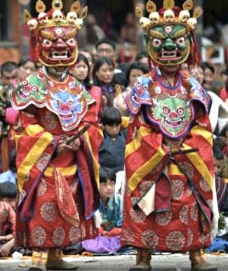 Masked Festival Dancers