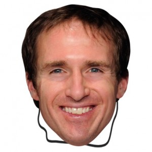 Have you seen this man? Brees mask on the loose