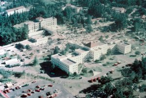 Aerial view of the after math of San Fernando Earthquake 1971