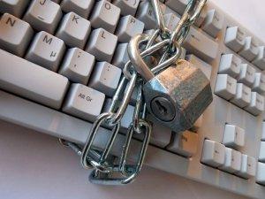 A keyboard under lock and key