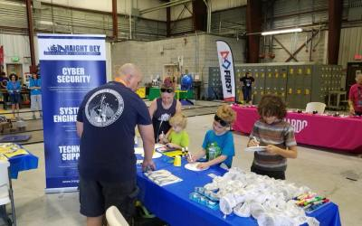WeatherEgg Kids at the Hill AFB Airshow