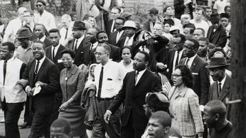 Image result for Dr. Martin Luther King, Jr. leads 3,200 people on the start of the third & finally successful civil rights march from Selma to Montgomery, Alabama.