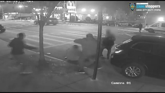 Image result for 2 men were robbed and beaten on Christmas Eve; thieves got away with $1 A 60-year-old man is in critical condition after he and an acquaintance were robbed and beaten early on Christmas Eve morning, and the suspects took off with just $1, according to a spokesman with the NYPD.  The two were approached by several unidentified males at around 1:25 a.m. Tuesday in the Bronx, a police statement said.  Edited surveillance video released by the NYPD captures portions of the violent attack.  It shows one attacker swinging one victim to the ground. In another frame, one victim — whose face is blurred — is being punched. A third frame shows an assailant approaching with what appears to be a garbage can in hand.  Police are investigating the motive but the NYPD spokesman said at this time it appears the suspects were in search of money.  The suspects have not been identified, and there have been no arrests.  The 60-year-old suffered bleeding in the brain, according to the police report, and was taken to NYC Health & Hospitals/Lincoln in critical condition, the NYPD spokesman said.  The 29-year-old refused medical treatment, the police statement said. Play VideoPlay Current Time0:00 Loaded: 0%Progress: 0% Duration Time0:00 Mute Quality 720pHD Fullscreen Play VideoPlay Current Time0:00 Loaded: 0%Progress: 0% Duration Time0:00 Mute Fullscreen