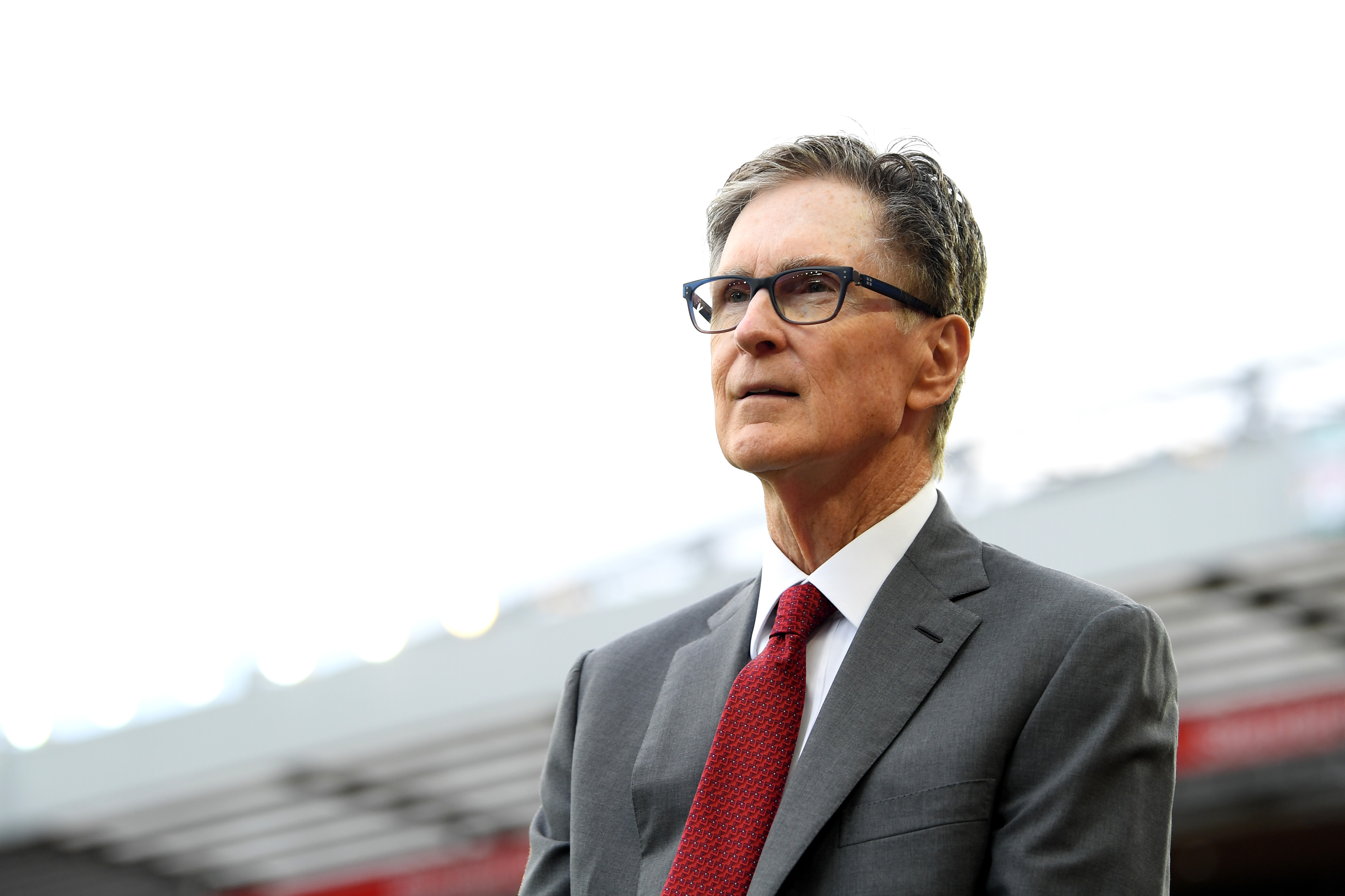 Liverpool owner John W. Henry ahead of the Premier League match between Liverpool FC and Norwich City in 2019.