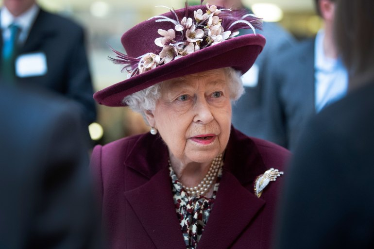 Queen Elizabeth II attends an event in London on February 25.