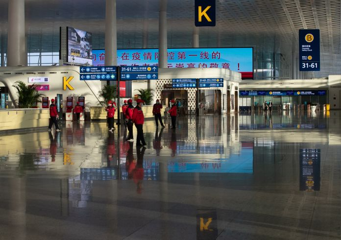 The Wuhan Tianhe airport in Wuhan has been closed to passenger flights since the city was locked down on January 23 due to the COVID-19 coronavirus outbreak.