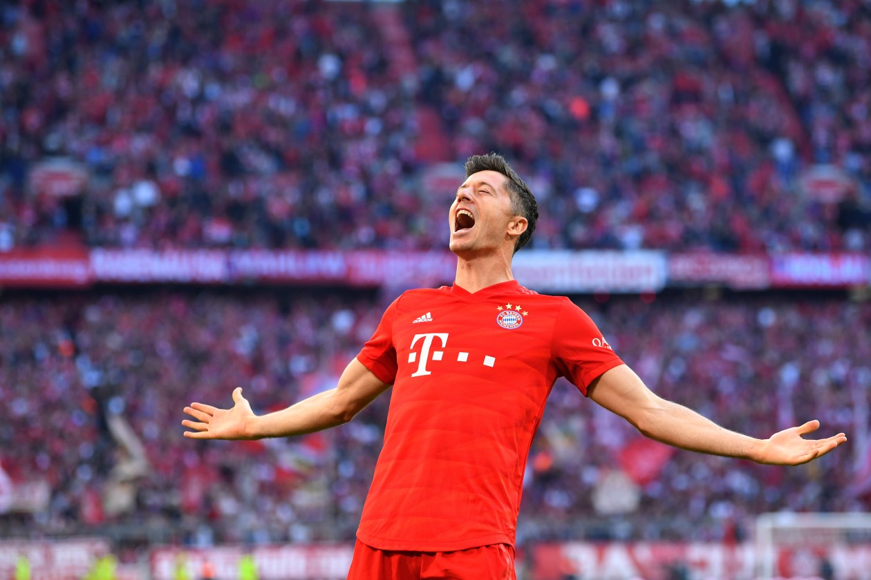 Robert Lewandowski has scored 20 goals in 16 matches this season for Bayern Munich.
