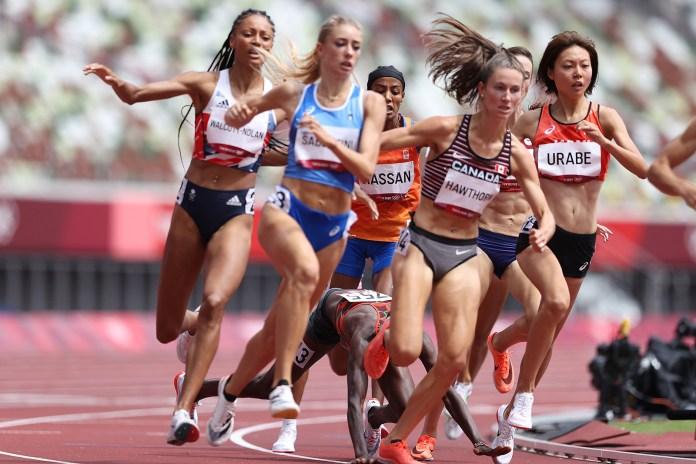 Kenyan sprinter Edina Jabitok collapsed on Monday during the 1,500-meter heat overtaking Sifan Hasan.