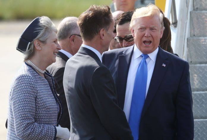 Trump and Hunt meet at Stansted Airport