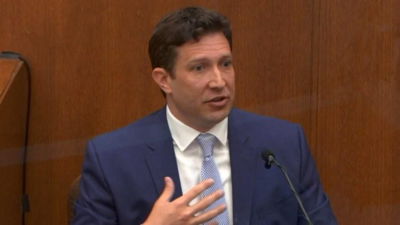 Cardiologist Dr. Jonathan Rich testifies on Monday, April 12.