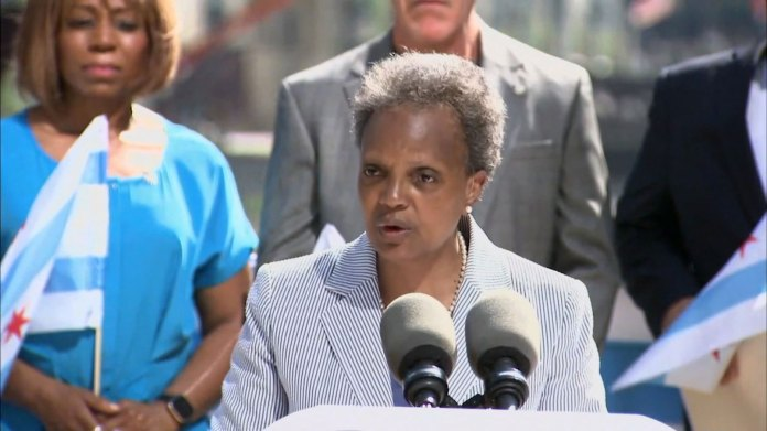 Mayor Lori Lightfoot speaks in Chicago on June 11.
