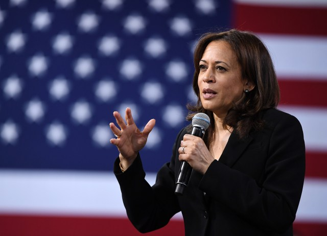 Sen. Kamala Harris speaks at the National Forum on Wages and Working People: Creating an Economy That Works for All at Enclave on April 27, 2019 in Las Vegas, Nevada.
