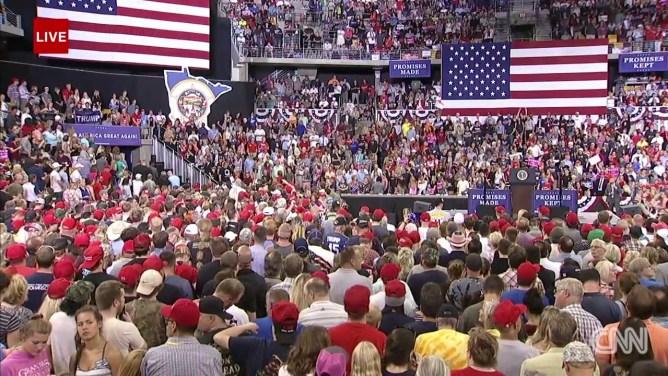 Live: President Trump holds rally in Minnesota
