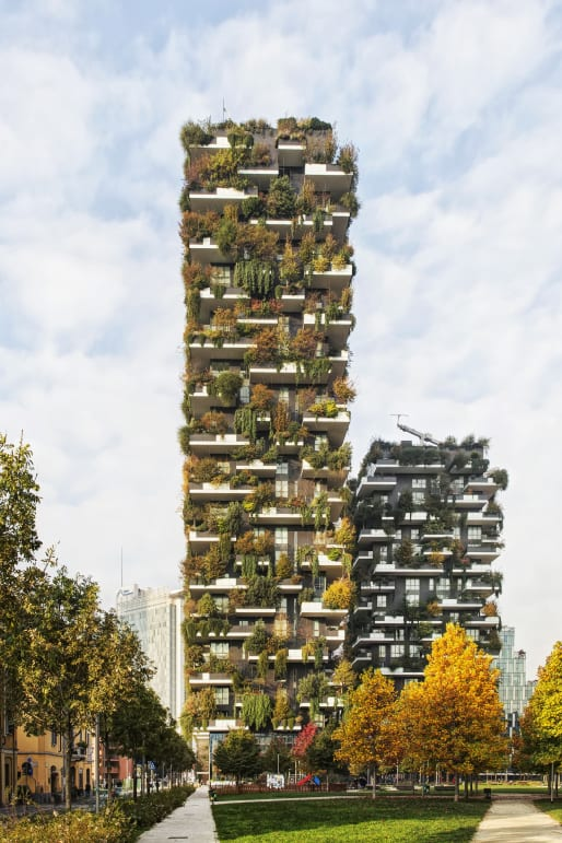 The Vertical Forest in Milan was completed in 2014.