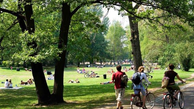 German nudism- Tiergarten Park