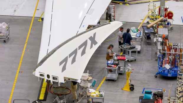 Wingtip of the 777x