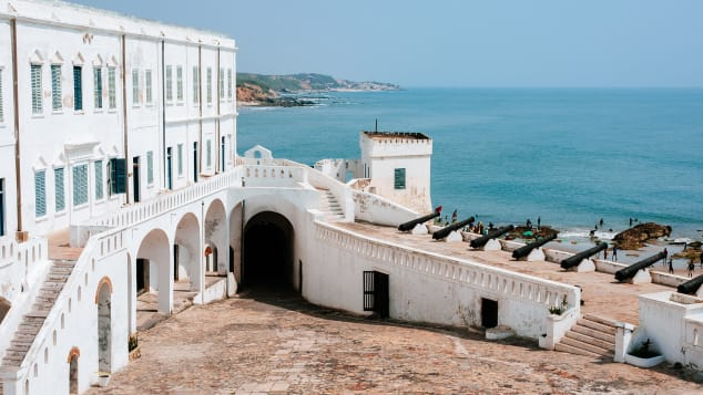 Ghana's Cape Coast Castle is where many slaves were held before being deported.