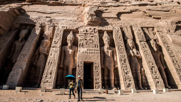 Nefertari complex at the ancient Egyptian temple of Abu Simbel