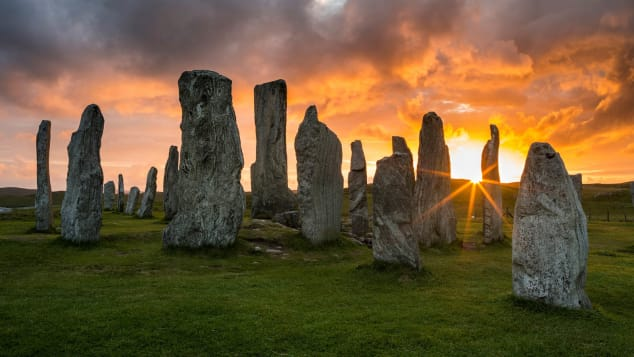 The Callanish Standing Stones: A Hebrides mystery dating back 5,000 years.