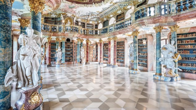 012 Wiblingen Abbey Library germany places photos