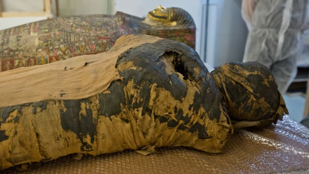 The mummy may have been in the wrong tomb, archaeologists believe.