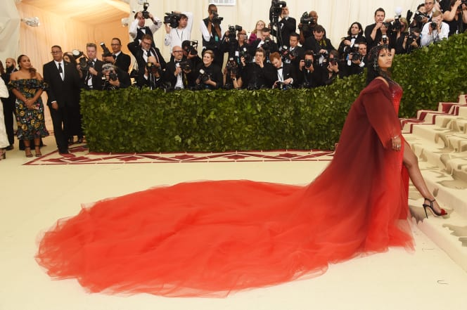 40 met gala red carpet nicki minaj