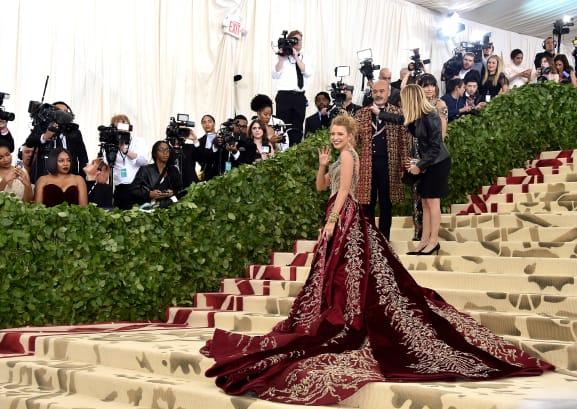 42 met gala red carpet blake lively RESTRICTED
