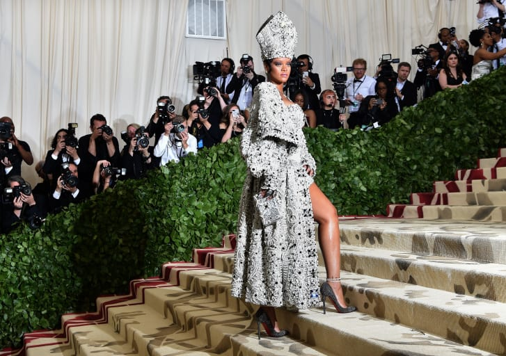 Few will forget one of the year's most memorable red carpet moments. Rihanna, dressed as the pope for the Met Gala. How will she intrepret 2019's camp theme?